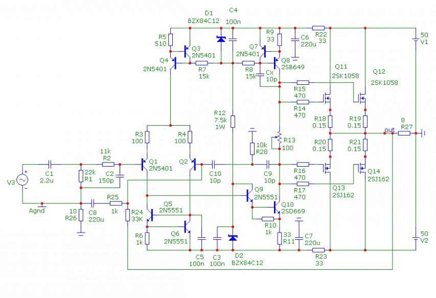 Усилители мощности на полевых транзисторах